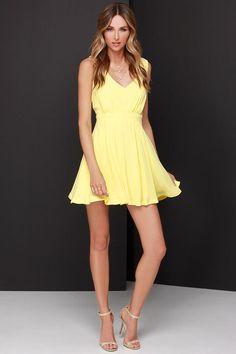 Graduation? Heaven's Adore Yellow Backless Dress at Lulus.com!