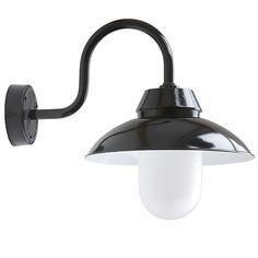 Wandlampe mit gewölbtem Schirm Mainz W1500 von Bolich - Außenleuchten Aluminium, Wall Lights, Lighting, Home Decor, Copper Light Fixture, Home Corner, Glass Ball, Ceiling Medallions, Top Hats