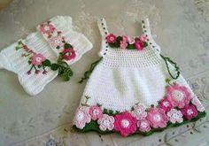 Click to view pattern for - Crochet a special dress for a girl
