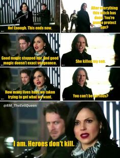 """Good magic stopped her.And good magic doesn't exact vengeance.""- Regina  #OnceUponATime 3x20 ""Kansas"" #EvilRegals pic.twitter.com/kF1U3An4oQ"