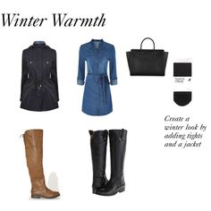 winter warmth by styleright on Polyvore featuring Armani Jeans, H&M, Frye and Amanda Wakeley