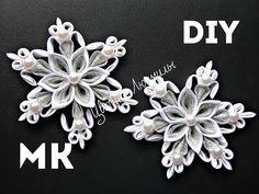 Снежинка канзаши своими руками \  Snowflake kanzashi own hands - YouTube