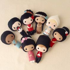 NEW International Dolls Felt Doll Patterns! Buy multiple patterns and get discounts!
