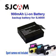 Free Shipping!100% Original 900mAh Backup Rechargable Li-on Battery For SJ4000 ,SJ4000 WiFi, SJ5000,SJ5000 WiFi Sport Camera DV