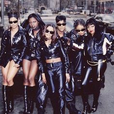 """Total along with & on set of """"No One Else"""" (Puff Daddy Remix) video ( Black Girl Magic, Black Girls, Black Women, Black Girl Aesthetic, Aesthetic Fashion, 90s Aesthetic, Grunge Fashion, 90s Fashion, Lil Kim 90s"""