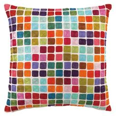 Would look great in my new living room! Squares Pillow from the Bedroom on a Budget event at Joss and Main!