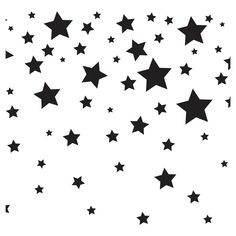 Tempaper - Kids Falling Stars Self-Adhesive Removable Borders + Stripes - White & Black,