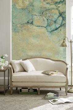 Ich Bin Blueish Zement Wallpaper Verblasst Die Farbe