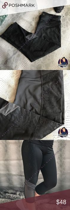 Betsey Johnson black lace mesh Capri NEW Betsey Johnson lace mesh workout capri     NEW WITH TAGS .  Beautiful lace Capri on the side followed by mesh for a breathable workout . Perfect for a stylish workout !    Use the OFFER BUTTON • bundle for 10% off   🤗 please no drama ladies lets be nice 🤗  • 5 star rating  • 400+ sales  • smoke free home  • 100% authentic  |💀| www.thethugwife.com |💀|   N O   TRADES Betsey Johnson Pants Capris