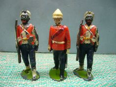 Vintage Britains Lead West Indian Regiment Soldiers With Walking Officer - 19   eBay
