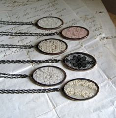 Lace Jewelry Necklace - mine is from Belgium and i love it!