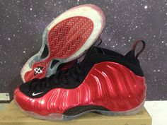 Authentic Nike Air Foamposite One Metallic Red