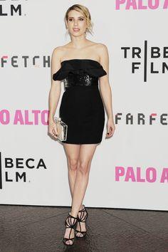 Emma Roberts in Saint Laurent #LBD