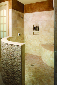 "HOT HOUSING TRENDS 2015: BATHROOMS - HousePlansBlog.DonGardner.com – At some point in the past three decades ""the bathroom proper"" evolved from being a purely utilitarian and unglamorous space which one visited only out of necessity: to wash one's hands, draw a bath, as well as to relieve other, more pressing, needs. All that's changed today, of course, as the bathroom has been elevated to priority status among homeowners, builders, and designers. In... #bathroom #interiordesign #trendwatch"