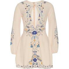 Harvest Moon Dress (210 BRL) ❤ liked on Polyvore featuring dresses, short dresses, cream short dress, short pink dress, pink cocktail dress and pink dress