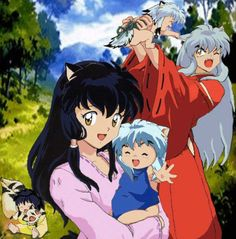 Inuyasha and Kagome having a family. I always hoped for the creator to do a time lapse of the future where Inuyasha and Kagome ended up together with kids.