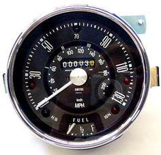 Speedometer, Cooper S, 130mph, Smiths, Black (13H4442) - Classic Mini