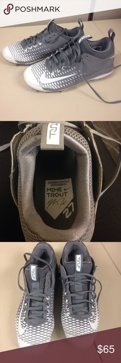Nike Mike Trout metal cleats Nike Mike Trout metal cleats...excellent condition like new only wore once on the field, my sons not allowed to wore them per his coach. Men size 8 Nike Shoes Athletic Shoes
