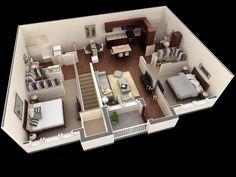 25 three bedroom house/apartment floor plans | house plan ideas