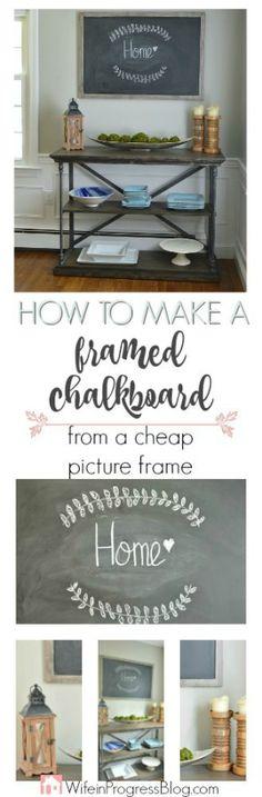 80 best Framed chalkboard images on Pinterest in 2018   Chalkboard ...