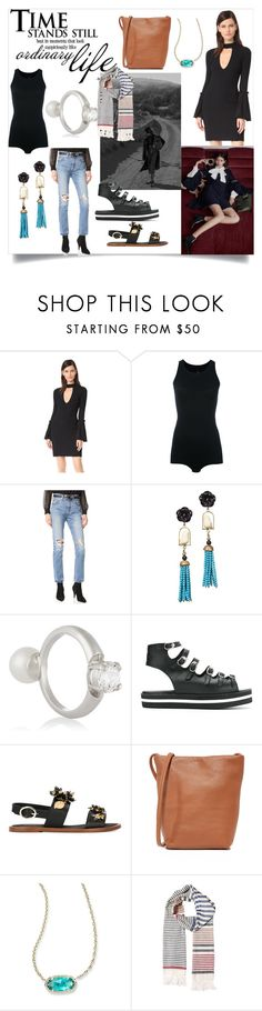 """""""Women's fashion"""" by denisee-denisee ❤ liked on Polyvore featuring C/MEO COLLECTIVE, Steffen Schraut, Rick Owens Lilies, Levi's, Of Rare Origin, Maison Margiela, Manolita, Dolce&Gabbana, BAGGU and Kendra Scott"""