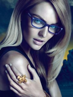 36846c86c22 Candice Swanepoel. I thought this was an IRL Ghoulia Yelps. Versace  Eyeglasses