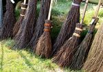 Lots of brooms....