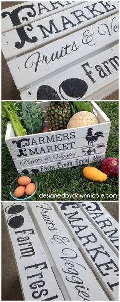 diy vintage style famers market crate how to stencil with paper, diy, painted furniture, repurposing upcycling