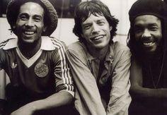 Bob Marley Mick Jagger Peter Tosh