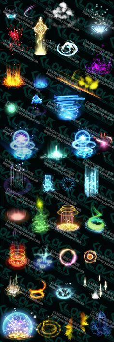 Game Art Resources / game series BUFF state material effect circle effects light effects sequence even frame PNG- Taobao