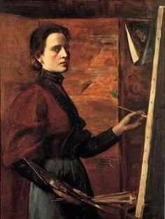 Elisabeth Nourse (American painter, 1860-1938)  Self-Portrait, 1892
