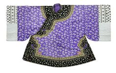 A lilac silk damask Han Chinese woman's short jacket, ao Late Qing Dynasty