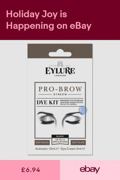 b0e28743253 EYLURE DYBROW BLACK COLOUR TINT EYEBROW DYE KIT MASCARA. PREVIOUSLY DYLASH