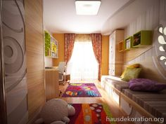 2013/02/Einrichtungsideen Zimmer Geschwister Schreibtisch Betten