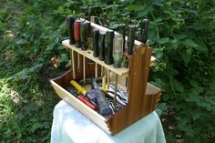 Tool caddy, tool tote, tool box - made with hand tools