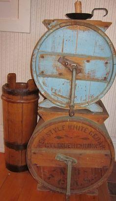 Antique Butter Churns...