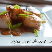 Miso-Saki Glazed Scallops