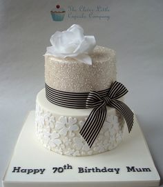 Glittery 70th Birthday Cake | by The Clever Little Cupcake Company