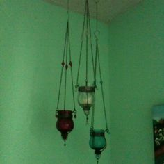 Little candle holders from my sisters room, cute