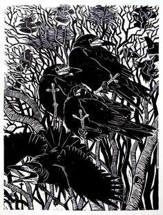 Mathew Borrett - ilustración, xilografía