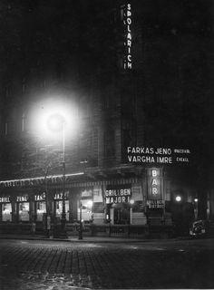 Spolarich Kávéház éjjel József körút 1934