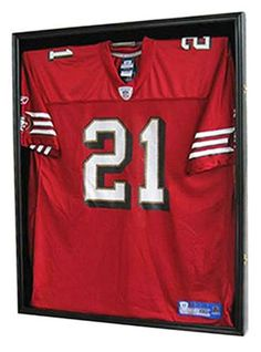 footballbaseball jersey display case frame shadow box with ultra clear 98 uv protection