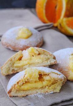 Bomboloni di frolla all'arancia con crema vickyart arte in cucina