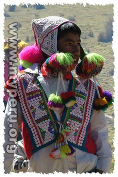 Quechua mens traditional dress including poncho,chaleco, chumpi,chullo and…