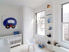 """White kid's room in Modern New York Apartment by """"Resolution: 4 Architecture"""" Modern Kids Bedroom, Modern Kids Furniture, Home Decor Signs, Cheap Home Decor, Baby Decor, Kids Decor, Nursery Decor, White Kids Room, White Nursery"""