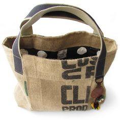 Shopping bag of COFFEE BEANS jute bag. By Handwerkjuffie.