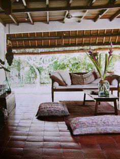 Outdoor living. Balinese home