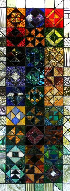 stained glass sampler. $1,000.00, via Etsy.