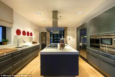 Marbella mansion: The £5m property, which is up for sale, boasts a modern-looking kitchen...