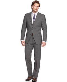 HUGO by Hugo Boss Suit Grey Solid Extra Slim Fit - Suits - Men - Macy's